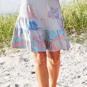 Fresh Produce Summer Floral Jersey Tiered Skirt